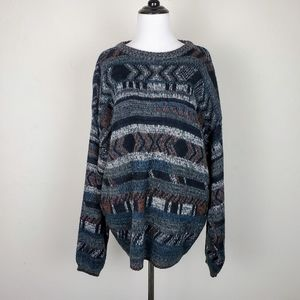 Michael Gerald Vintage Grandpa Sweater Oversized